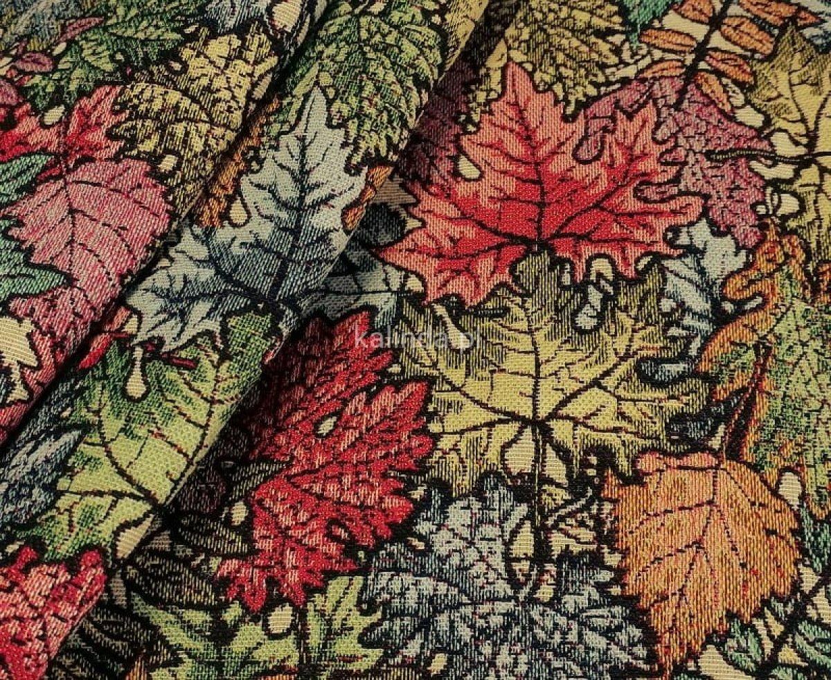 Jesienne liście, tkanina obiciowa, meblowa