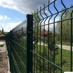 panel panele ogrodzeniowe ogrodzenia płot 250x123 fi 4 oc+RAL