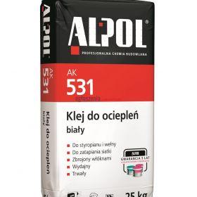 Klej do siatki BIAŁY AK531 ALPOL grafit, XPS, wełna, +WŁÓKNA