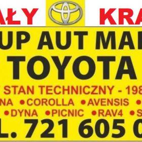 Kupię Stare Toyoty Corolla Carina Avensis Picnic Hiace, Skup Aut Lublin