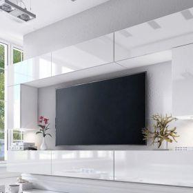 Meblościanki nowoczesne, modułowe do salonu biały połysk