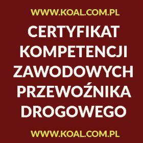 Certyfikat Kompetencji Zawodowych Przewoźnika Drogowego Lublin,Rzeszów,Kalisz