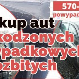 Skup aut uszkodzonych, powypadkowych, rozbitych Śląsk Małopolska Opolskie