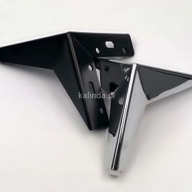 Nóżka meblowa, metalowa, gwiazda
