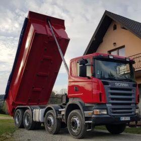 Usługi transportowe wywrotką 8x4 , kruszywa piasek,