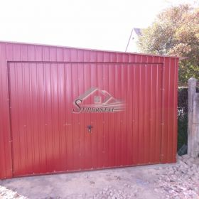 Garaż Blaszany Akrylowy 4X7 Spad w Prawo