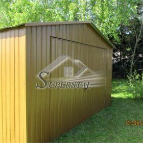 Garaż Blaszany 4X5 Akrylowy Brama Złoty Dąb