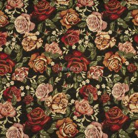 Herbaciane róże, tkanina tapicerska, obiciowa