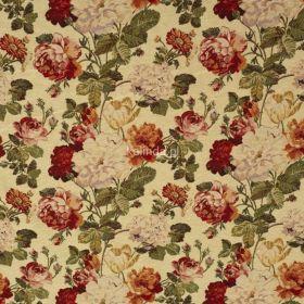 Tkanina obiciowa, meblowa, Róża angielska
