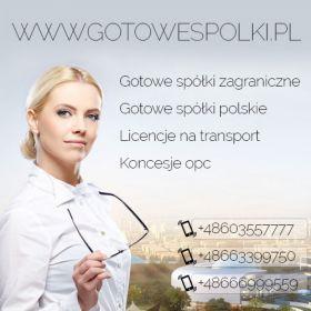 Sprzedaż spółek z o.o. z Licencją na spedycje i transport 603557777  KONCESJE PALIWOWE OPC, spółki zagraniczne z VAT EU, WIRTUALNE BIURA