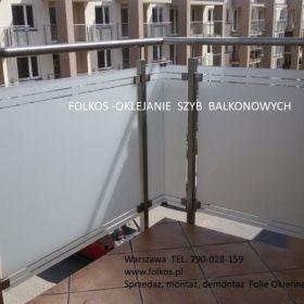 Folie na szklane balkony -Folie na BALKON Warszawa -Oklejanie szyb balkonowych -Folie matowe